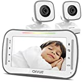 "Video Baby Monitor, 4.3"" High Resolution Display, 2 Cams for 2 Rooms, 15-Hour Battery Life, 1000ft Range, 2-Way Communication, Secure Privacy Wireless Technology"