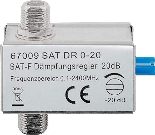 Goobay 67009 Dämpfungsregler, F-Anschluss, 0 dB - 20 dB, 75 Ohm