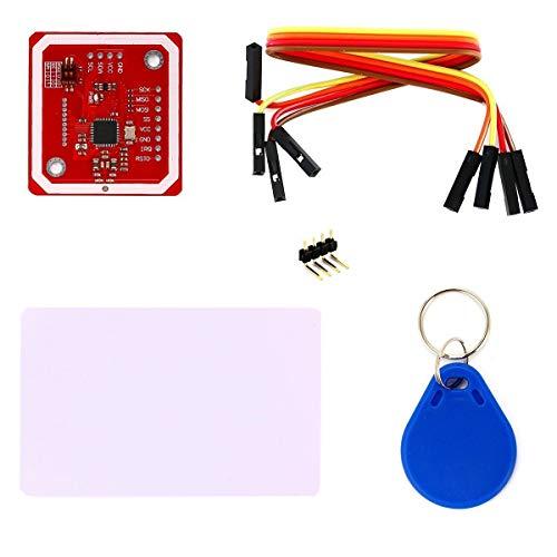 ICQUANZX PN532 NFC NXP RFID-Modul V3-Kit Nahfeldkommunikationsleser-Modul-Kit I2C SPI HSU mit weißer S50-Karte Schlüsselkarte für Arduino Raspberry Pi DIY-Smartphone Android-Handy