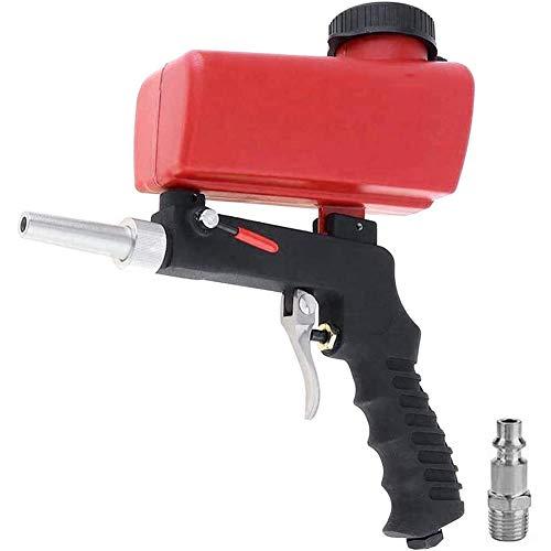 DollaTek Pistola neumática de chorro de arena pequeña portátil de mano pistola de chorro de arena roja
