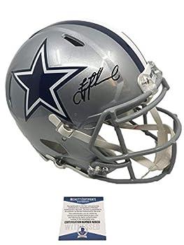 Dallas Cowboys Troy Aikman Autograph Signed Full Size Replica Speed Helmet - Beckett BAS W COA