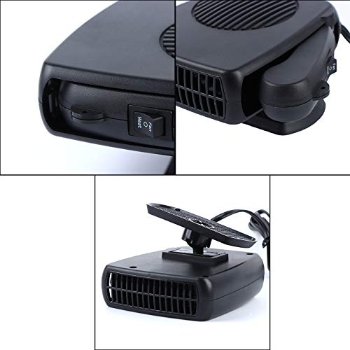 41FbSN44XYL - Haiabei Portable Car Heater Fan,Plug-in Anti-Fog 150W 12V Car Fan Windshield Defroster Automobile Heater Warmer Vehicle Demister Fast 2 in 1 Heating Cooling Dryer Auto 360-degree Rotation Heater Fan