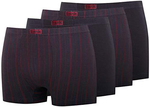 Frank Fields Boxershort Unterhose Unterwäsche Retro Short Pants Herren Wäsche Nachthose Größe 5 6 7 8 9 KB Socken (9, Grau mit roten Streifen)