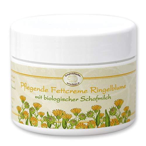 Florex Fettcreme mit Ringelblume & Bio Schafmilch 125ml aus Österreich- intensiv pflegende Creme mit Lanolin (Wollfett) zur Regeneration rissiger & strapazierter Haut mit desinfizierende Wirkung