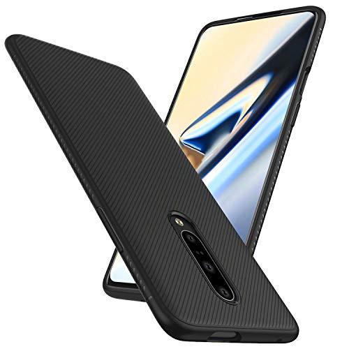 FGXG Hülle Kompatibel mit Oneplus 7 Pro Handyhülle.Silikon Schutzhülle, Ultra Thin Tasche Cover,stoßfeste TPU Schutzhülle, ultradünne & langlebige Hülle(schwarz)
