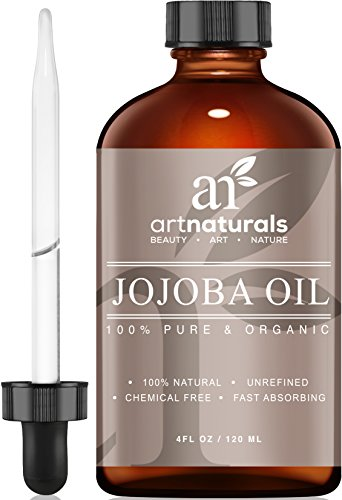 ArtNaturals Organic Jojoba Oil, 100% Pure Virgin Cold Pressed Unrefined Organic Jojoba Oil (4oz), Best for Sensitive, Acne Prone Skin - USDA Certified Organic by ArtNaturals