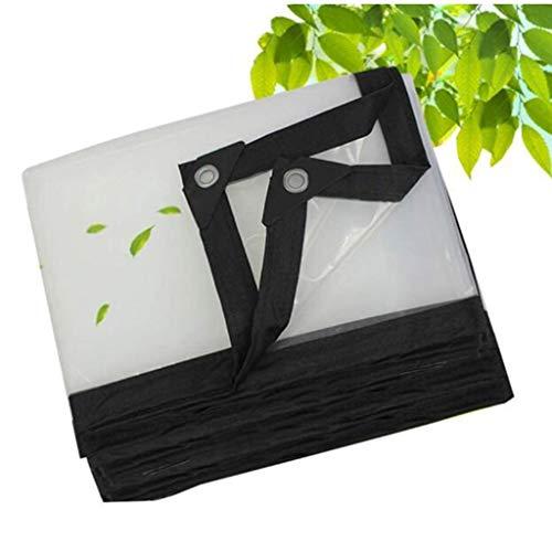 QI-CHE-YI Tarpaulin, transparent waterproof metal button hole, outdoor garden rainproof foldable tear-resistant PE plastic sheet,4x6