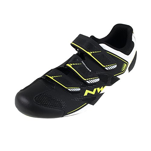 Northwave Sonic 2 Road Shoes Black/White/Yellow Fluo 42