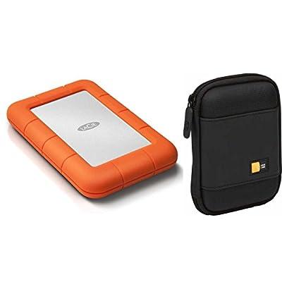 LACIE Z230636-240FLaCie Rugged Mini USB 3.0 2TB External Hard Drive + Case Logic Portable Hard Drive Case