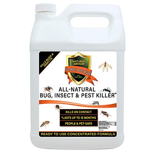 Natural Bug, Insect & Pest Killer & Control Including Fleas, Ticks, Ants, Spiders, Bed Bugs, Dust Mites, Roaches and More for Indoor and Outdoor Use, 128 Fl Oz Gallon Refill