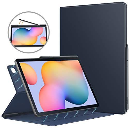 MoKo Hülle Kompatibel mit Galaxy Tab S6 Lite 10.4 2020 SM-P610/P615, Magnetische Befestigung Schutzhülle Folio Smart Case Auto Schlaf/Aufwach Tablet - Indigo