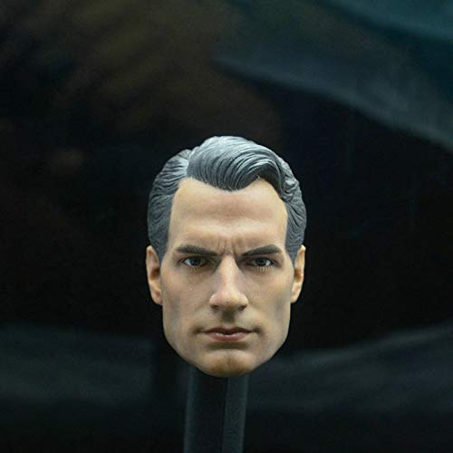 ZSMD 1/6 Scale Superman vs Batman Clark Kent Superman 2.0 Head Sculpt Head Carving Headplay for 12' Action Figure Body