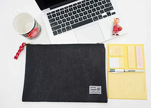 Rough Enough Canvas File Folder Organizer Letter Size Document Bag Case Pouch Paper Notebook Envelopes Magazine with Zipper for Filing Laptop Accessories Office School Supplies Exam Car Photo #3