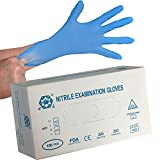 Nitrile Gloves - Powder Free and Latex Free - Non-Sterile Durable Multi-Purpose Disposable Gloves Large - Blue