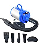 SHELANDY 3.2HP Stepless Adjustable Speed Pet Hair Force Dryer Dog Grooming Blower with...