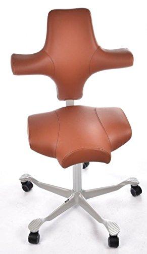 HAG Capisco Bürostuhl Modell 8106 Leder Braun Sattelsitz