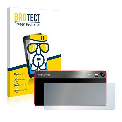 BROTECT Panzerglas Schutzfolie kompatibel mit Lenovo Vibe Shot (Rückseite) - 9H Extrem Kratzfest, Anti-Fingerprint, Ultra-Transparent