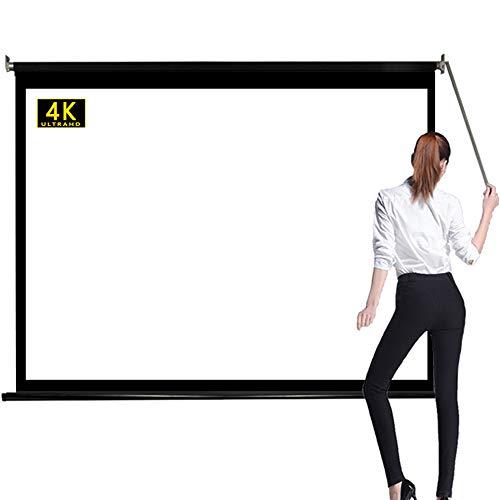 120インチプロジェクタースクリーン 16:9伸縮天吊り ロール式スクリーン 自立式 壁掛け式、き投影スクリーン ホームシアター プレゼンテーション 教具