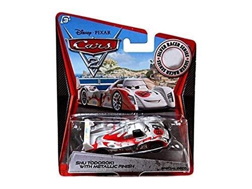 Disney Pixar CARS 2 Exclusive 1:55 Die Cast Car SILVER RACER Shu Todoroki With Metallic Finish - Véhicule Miniature - Voiture