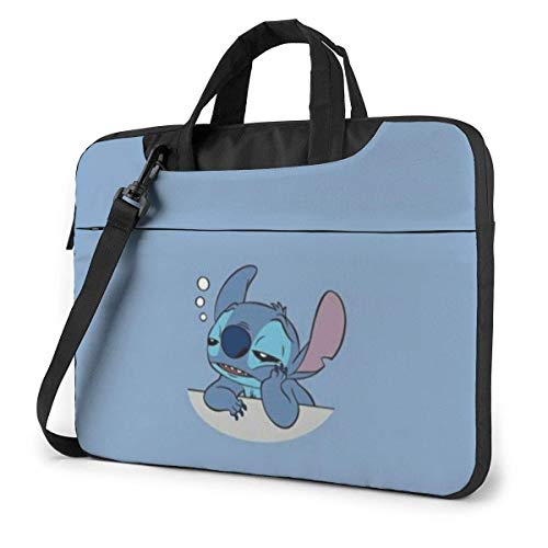 Sleeping Stitch Laptop Bag Busin Briefcase for Men Women, Shoulder Menger Laptop Sleeve Case Carrying Bag- 15.6 Inch