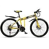 Bicicleta para niños Mountain Bike Pieghevole da 26 Pollici, per La Struttura D'acciaio di Alluminio Dell'adulto Della Gioventù Bicicletta da Montagna A 21 Velocità con Ammortizzatori per Uomini e Don