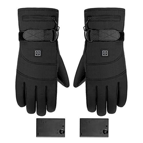 Guantes calefactables, guantes de hípica de invierno, recargables, con pilas, calentadores de manos eléctricos, 3 niveles de temperatura, antideslizantes, para la caza, pesca, esquí