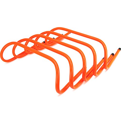 Crown Sporting Goods 6-inch Speed Agility Training Hurdles, Pack of 5