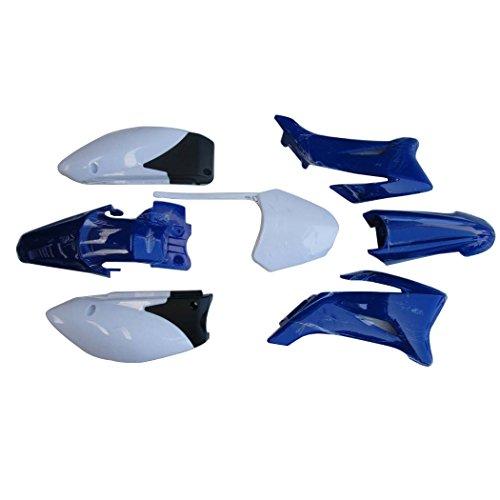 WPHMOTO Yamaha TTR110 Plastics Plastic Fender Body Parts Fits TT-R110E 2008-2015 Pit Bike (Blue)