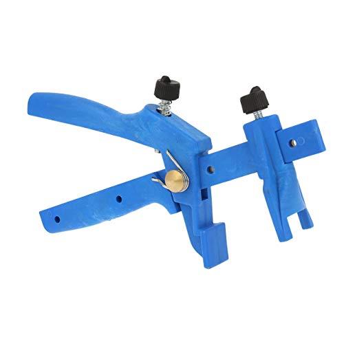 Lantelme Fliesen Zange blau Fliesenverlegesystem Zuglaschen Keile Verlegung Verlegezange Kunststoff mit Metallkern 5910