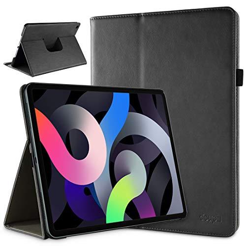 doupi Funda para iPad Air de 4ª generación (10,9 pulgadas), función de encendido y apagado automático, piel sintética, función atril, color negro
