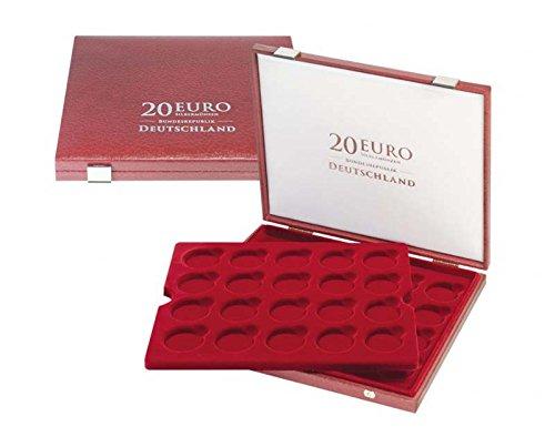 Lindner 2456 Luxus-Kassette für original verkapselte 20 Euro-Silbermünzen Bundesrepublik Deutschland in Spiegelglanz