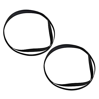 Yibuy 27x0.5cm Perimeter 54cm Black Rubber Turntable Replaceable Belt for Vinyl Record Player VCR Player Pack of 2