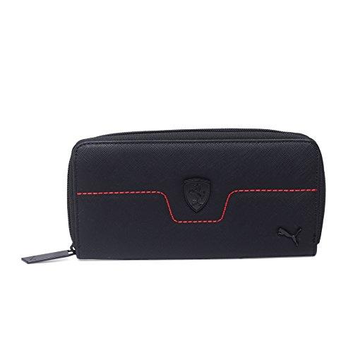 Puma Ferrari Damen Geldbörse Geldbeutel Portemonnaie schwarz