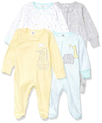 Gerber Baby 4-Pack Sleep 'N Play, Animals Green, 0-3 Months
