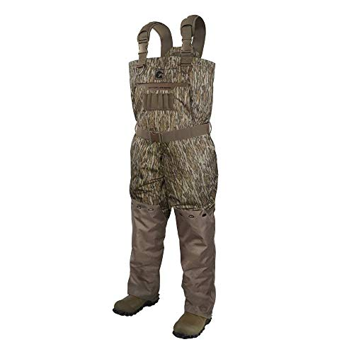 Gator Waders Mens Shield Series Insulated Breathable Hunting Waders, Mossy Oak Bottomland, Regular 12