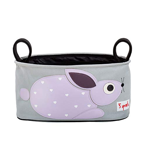 3 Sprouts Universal Stroller Organizer - Baby Jogger Caddy with Cup Holder, Rabbit