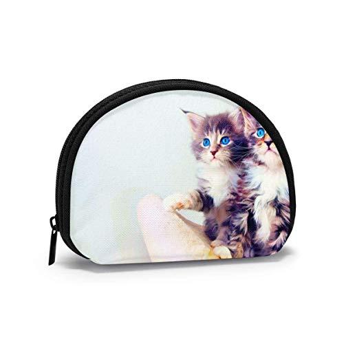 DJNGN Oxford Cloth Cat On Sofa Münzgeldbörse Kleine Reißverschlusstasche Brieftasche Wechselbeutel Mini Cosmetic Makeup Bags Organizer Mehrzweckbeutel