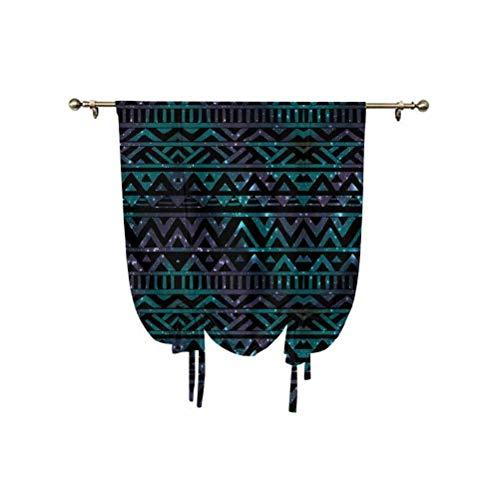 Grunge - Paneles para cortinas con diseño de flechas y triángulos, diseño vintage, con aislamiento térmico, 76 x 108 cm, para ventanas pequeñas/cocina multicolor