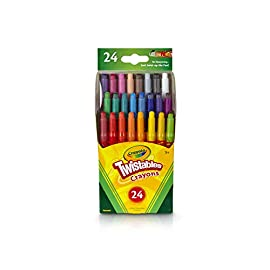 Crayola Twistables Crayons Coloring Set, Kids Indoor Activities at Home, 24 Count, Assorted 18 CRAYOLA TWISTABLES CRAYONS: Features 24 Twistable Crayola Crayons in assorted colors. AT HOME CRAFTS&INDOOR ACTIVITIES: Keep spirits high with creativeart supplies! Simple andfun crafts for kidsare a great way to stay thoughtfully engaged and entertained NO SHARPENING OR PEELING REQUIRED: Crayon sharpeners aren't needed here. Twist up & go with this convenient crayon set from Crayola.
