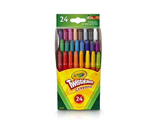Crayola Twistables Crayons Coloring Set, Kids Indoor Activities at Home, 24 Count, Assorted
