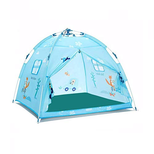 Llpeng Children's Field Tents,Household Play House Tents Kindergarten Girls' or Boys'Play Tent Portable Tent/for Indoors/Outdoors Play Tents (Color : Blue, Size : 120 * 120 * 110CM)