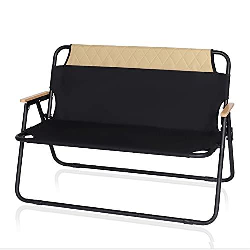 JNOI Silla de Asiento Acolchada de Gran tamaño portátil, Taburete para Acampar, sillas Plegables para Adultos con Respaldo Alto Acolchado para Campamento, Playa, Soportes a 300 lbs