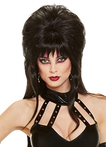 Elvira Mistress Of The Dark Long Wig, Black, One Size