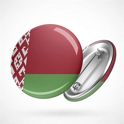 Hellweg Druckerei Button Anstecker Belarus Weißrussland Flagge Europa Flag Badge Abzeichen Pin