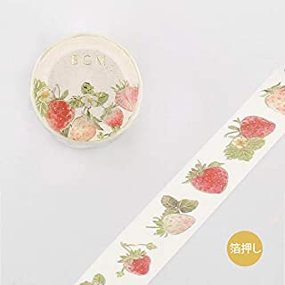 BGM - Masking Tape - Washi Tape (20mm) Foil Stamping - Strawberry Pine