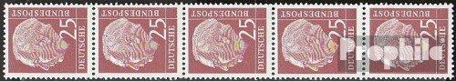 RFA (FR.Allemagne) mer.-no.: 186x v r Bande de Cinq strié Gommage 1954 heuss (Timbres pour Les collectionneurs)
