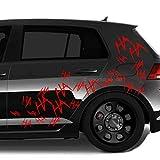 decalstore ha ha ha Aufkleber Auto Sticker Joker Style (rot)