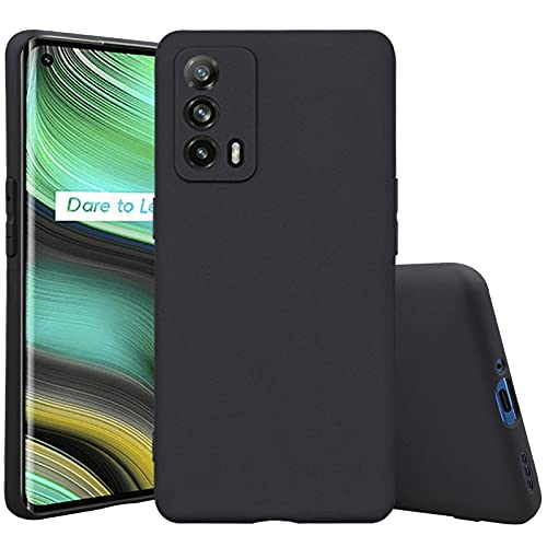 Cassby Back Cover for Realme X7 Max 5G (Flexible|Matte|Black)