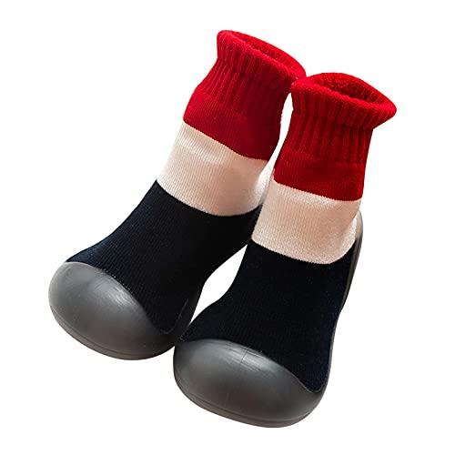 Calcetines para bebé, niñas, calcetines para recién nacidos, antideslizantes, transpirables, para interior, suelos, suaves, de verano, 0 a 3 años, calcetines para niños, Negro , 20