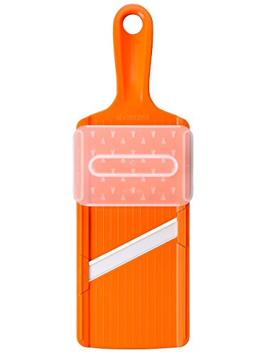 Kyocera Mandoline Japonaise Slicer Cuisine Lame Céramic avec Protége Doigt - Couleur Orange